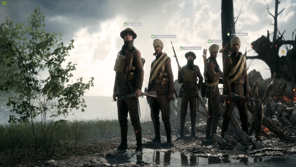 Battlefield One Squad Selection