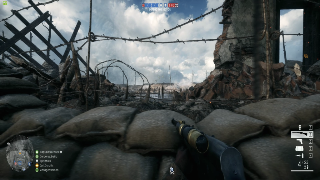 Battlefield One Trench View