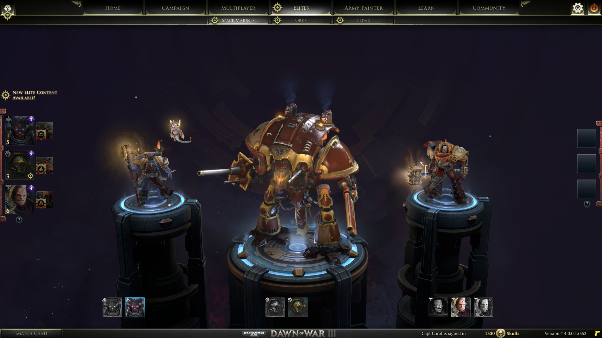 Dawn of War 3 Hero Screen